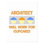 Architect ... Will Work For Cupcakes Postcard