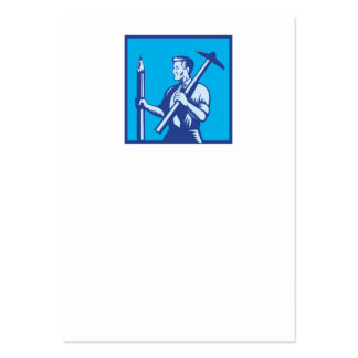 Architect With Pencil and T-Square Business Card Templates