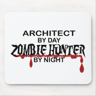 Architect Zombie Hunter by Night Mouse Pad