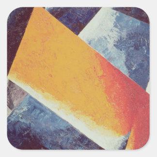Architectonic Composition Square Sticker