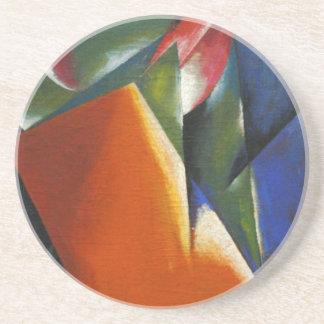 Architectonic Painting by Lyubov Popova Beverage Coaster