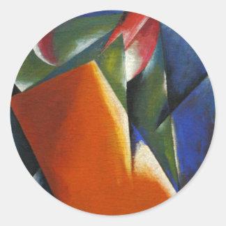 Architectonic Painting by Lyubov Popova Round Sticker