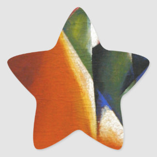 Architectonic Painting by Lyubov Popova Star Sticker