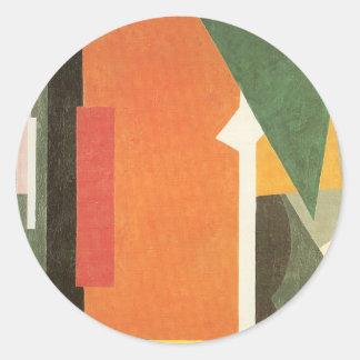 Architectonics in Painting by Lyubov Popova Round Sticker