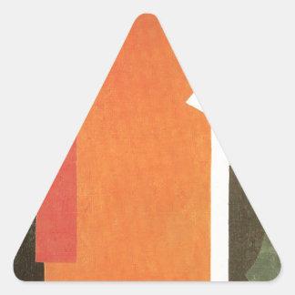 Architectonics in Painting by Lyubov Popova Triangle Sticker