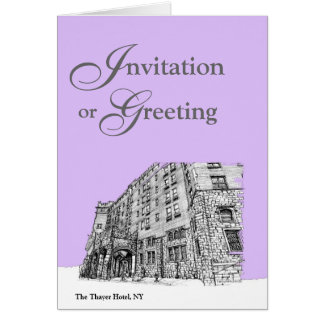 Architectture in lilac note card