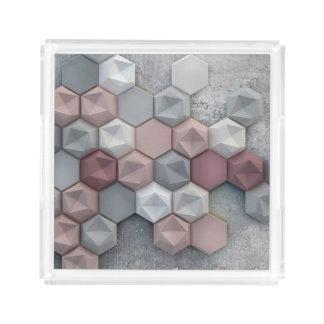 "Architectural Acrylic Tray 8.125"" x 8.125"" x 1.7"""