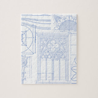Blueprint jigsaw puzzles zazzle architectural blueprints jigsaw puzzle malvernweather Gallery