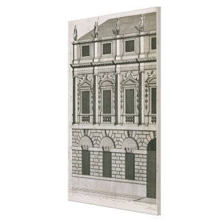 Architectural design demonstrating Palladian propo Canvas Print