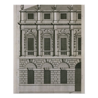 Architectural design demonstrating Palladian propo Print