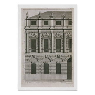 Architectural design demonstrating Palladian propo Poster