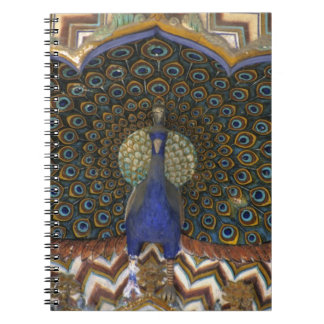 Architectural detail of Peacock Gate Spiral Notebook
