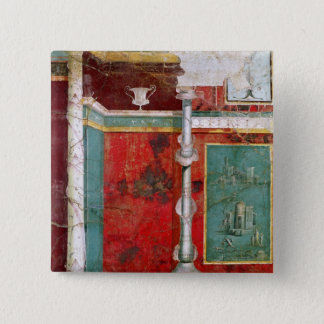 Architectural detail with a landscape 15 cm square badge