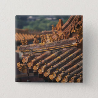 Architectural details in the Forbidden City, 15 Cm Square Badge