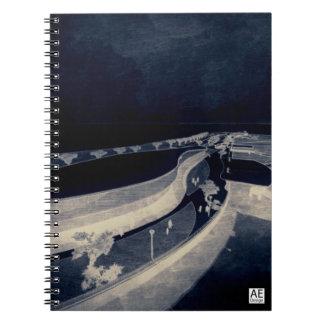 Architectural Digital Art Sketch Spiral Notebook