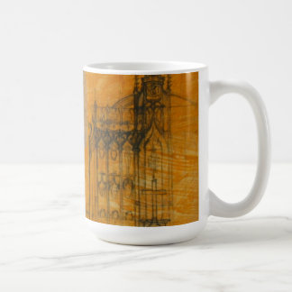 Architectural Drawing - Gothic Church Mug