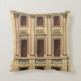 Architectural Facade by Jean Deneufforge Cushion
