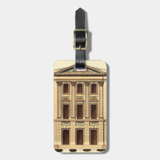 Architectural Facade by Jean Deneufforge Luggage Tag