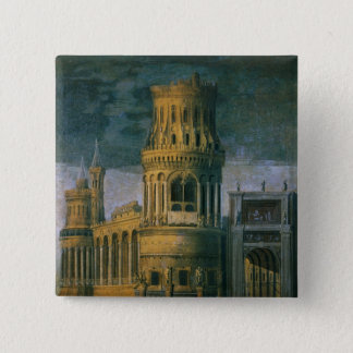 Architectural fantasy 15 cm square badge