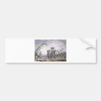 Architectural Fantasy by Hubert Robert Bumper Sticker