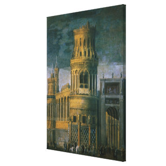 Architectural fantasy canvas print