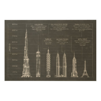 Architectural Heights Wood Print