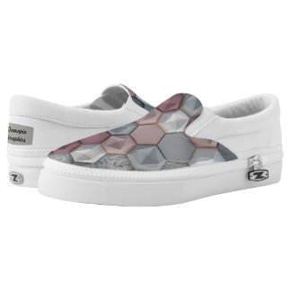 Architectural Hexagons Mens Slip On Shoes