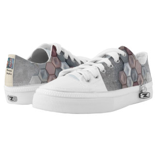 Architectural Hexagons Unisex Low Top Shoes