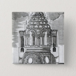Architectural Illustration 15 Cm Square Badge