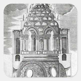 Architectural Illustration Square Sticker