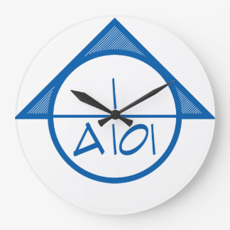 Architectural Reference Symbol Wall Clock (blue)