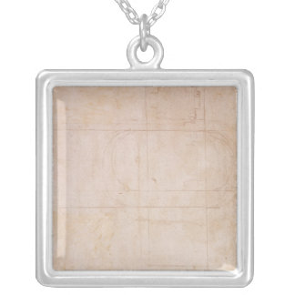 Architectural Sketch Silver Plated Necklace