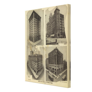 Architectural solidity in Portland, Oregon Canvas Print