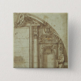 Architectural Study 15 Cm Square Badge