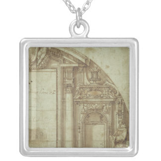 Architectural Study Silver Plated Necklace