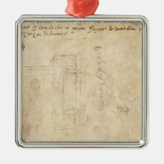 Architectural Study with Notes Christmas Ornament