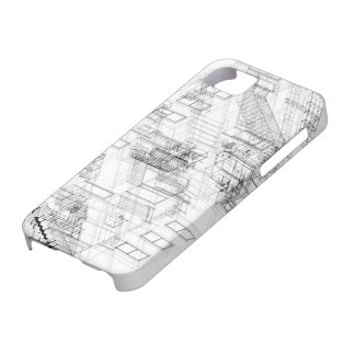 Architectural wire frame Iphone case