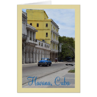 Architecture and American Cars of Cuba Card