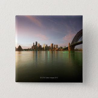 Architecture Australia Bridge Calm Cities City 15 Cm Square Badge