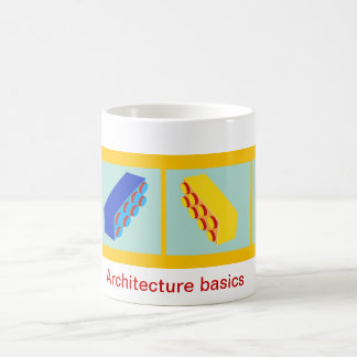 'Architecture basics' building toy blocks Mug