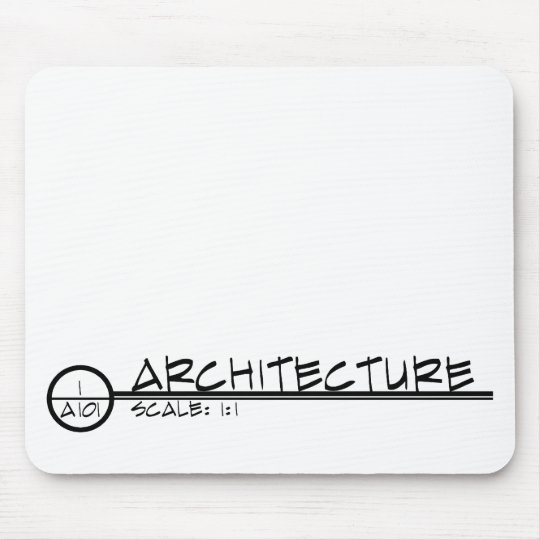Architecture Drawing Title Mousepad (dark)