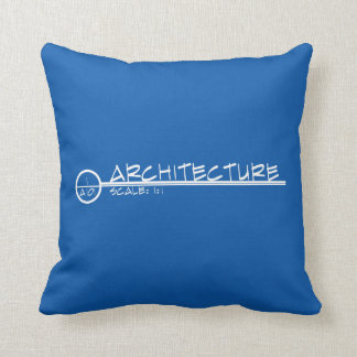 Architecture Drawing Title Pillow (inverse colors)