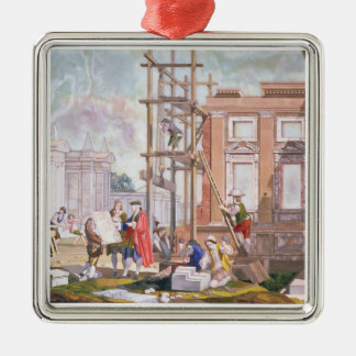 Architecture, from a series of four illustrating t christmas ornament