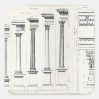 Architecture I: Orders of Architecture Square Sticker