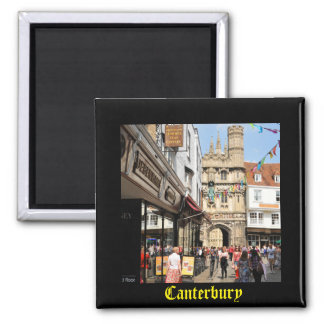 Architecture in Canterbury, Kent, England Square Magnet