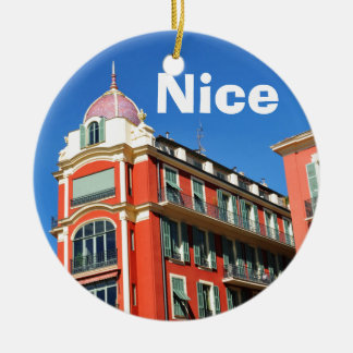 Architecture in Nice, France Christmas Ornament
