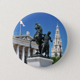 Architecture in Vienna, Austria 6 Cm Round Badge