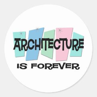 Architecture Is Forever Round Sticker