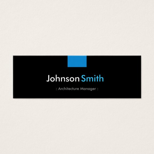 Architecture Manager - Aqua Blue Compact Mini Business