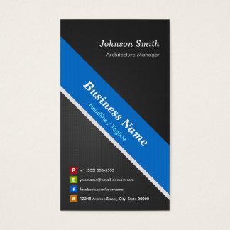 Architecture Manager - Premium Black Blue Business Card
